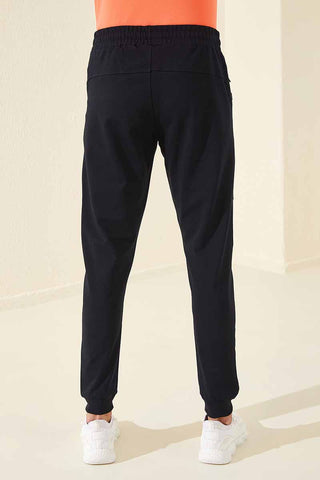 Image of Men's Front Print Navy Blue Sweatpants