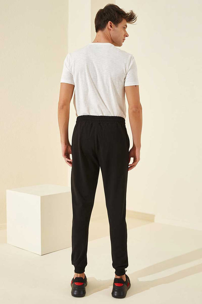 Men's Pocket Black Sweatpants
