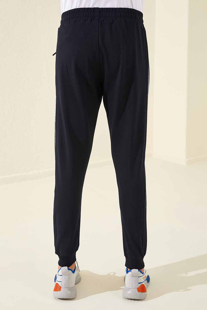 Men's Side Striped Navy Blue Sweatpants