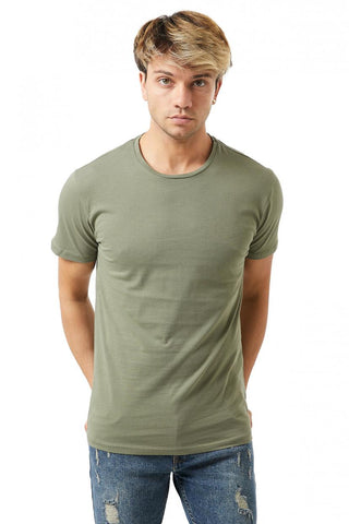 Image of Men's Collarless Basic T-shirt (3 Pieces Package)