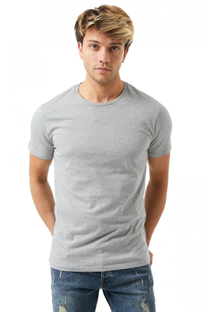 Men's Collarless Basic T-shirt (3 Pieces Package)
