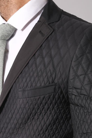 Men's Black Quilted Jacket