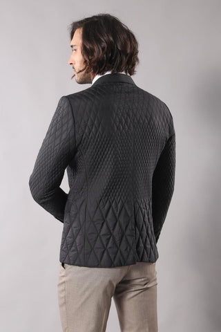 Image of Men's Black Quilted Jacket