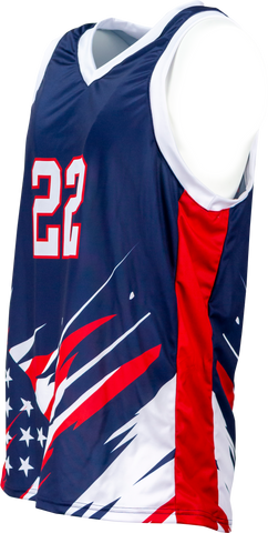 FitUSA Liberty Sublimated Men's Basketball Jersey