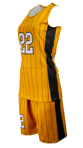 FitUSA Pinstripe REVERSIBLE Sublimated Women's Basketball Jersey