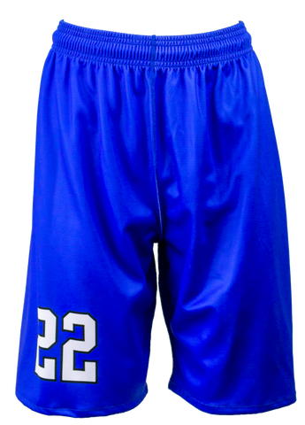 FitUSA Solid REVERSIBLE Sublimated Women's Basketball Shorts