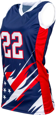 FitUSA Liberty Sublimated Women's Basketball Jersey