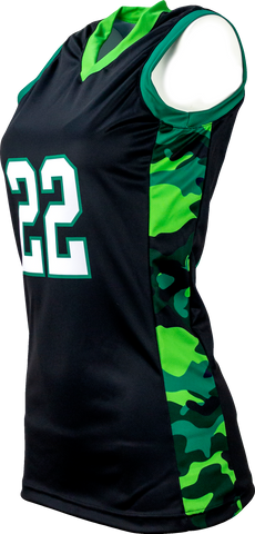 FitUSA Camo Sublimated Women's Basketball Jersey
