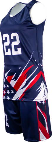 FitUSA Liberty REVERSIBLE Sublimated Women's Basketball Jersey