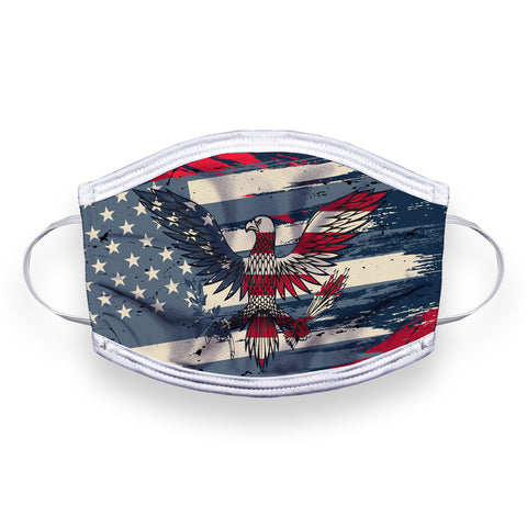 Vintage American Flag 2-Layer Facemask