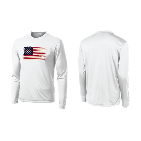 Vintage American Flag Unisex Performance Shirt