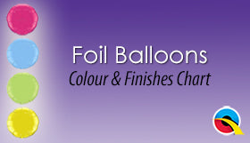 Foil Balloons Colour and Finishes Chart