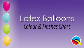 Latex Balloons Colour & Finishes Chart