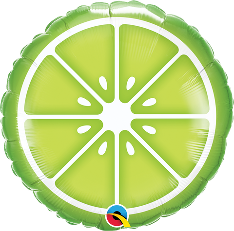 "18"" Round Foil Sliced Lime #10405 - Each (Pkgd.)"