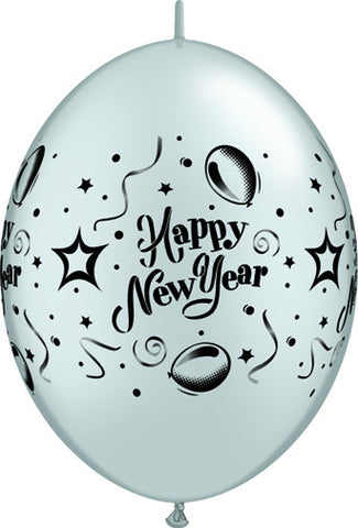 "12"" Quick Link Silver New Years-Column  #11173 -  Pack of 50"