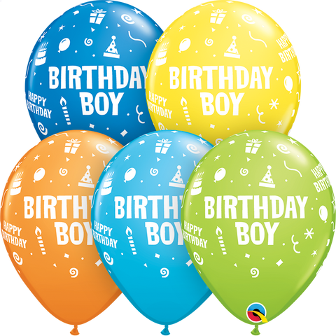 "11"" Round Special Assorted Birthday Boy #11677 - Pack of 50"
