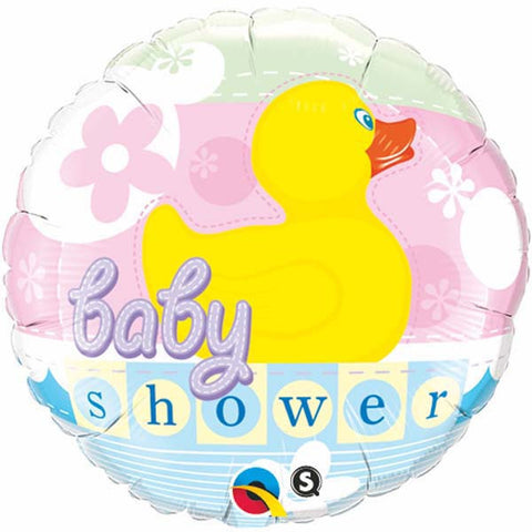 "18"" Round Foil Baby Shower Rubber Duckie #11790 - Each (Pkgd.)"