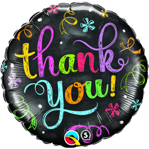 "18"" Round Foil Thank You Chalkboard #11826 - Each (Pkgd.)"