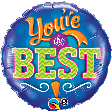 "09"" Round Foil You're The Best Emblem #73667 - Each (Unpkgd.)"
