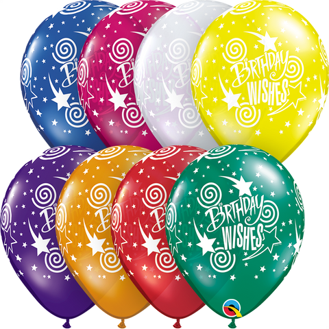 "11"" Round Jewel Assorted Birthday Wishes #12567 - Pack of 50"