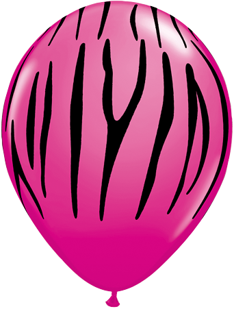 "11"" Round Wild Berry Zebra Stripes #12584 - Pack of 50"