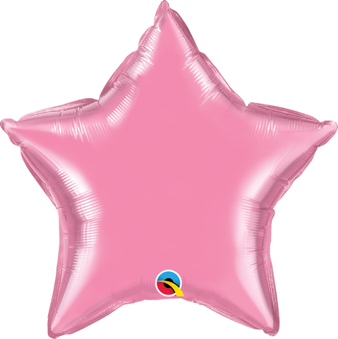 "20"" Star Rose Plain Foil #12620 - Each (Unpkgd.)"