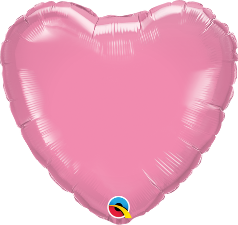 "18"" Heart Foil Rose Plain #12891 - Each (Unpkgd.)"