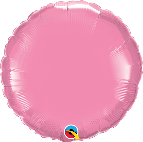 "18"" Round Rose Plain Foil #12910 - Each (Unpkgd.)"