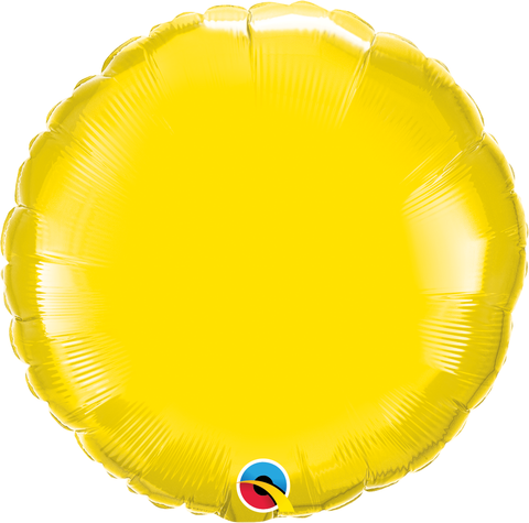 "18"" Round Yellow Plain Foil #12915 - Each (Unpkgd.)"