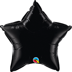 "20"" Star Onyx Black Plain Foil #12617 - Each (Unpkgd.)"