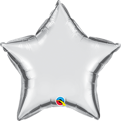 "20"" Star Silver Plain Foil #12630 - Each (Unpkgd.)"