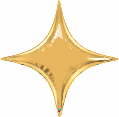 "40"" Shape Foil Starpoint Metallic Gold #15565 - Each (Unpkgd.)"