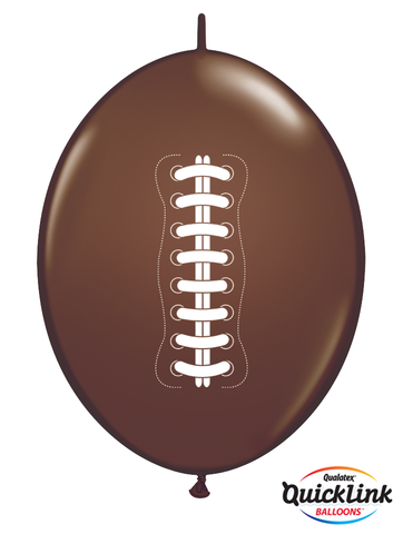 "12"" Quick Link Chocolate Brown Football #15622 - Pack of 50"