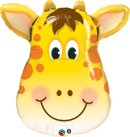 "32"" Shape Foil Jolly Giraffe SW #16095 - Each (pkgd.)"