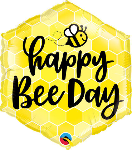 "20"" Hexagon Foil Happy Bee Day #16433 - Each (Pkgd.)"