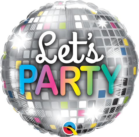 "18"" Round Foil Let's Party Disco Ball #16446 - Each (Pkgd.)"