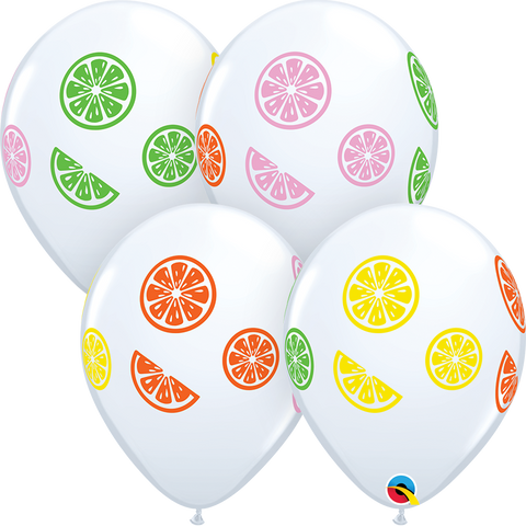 "11"" Round White Colorful Fruit Slices #16474 - Pack of 50"
