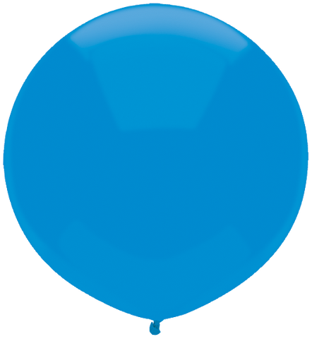 "17"" Round Bright Blue Outdoor Balloon#16593 - Pack of 50"