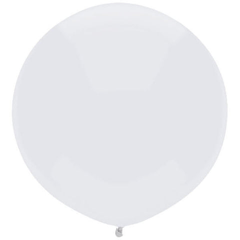 "17"" Round Bright White Outdoor Balloon#16597 - Pack of 50"