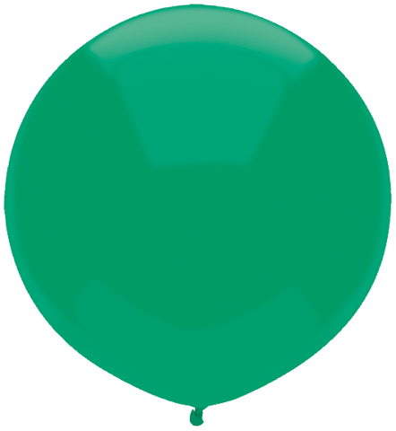 "17"" Round Deep Jade Outdoor Balloon#16599 - Pack of 50"
