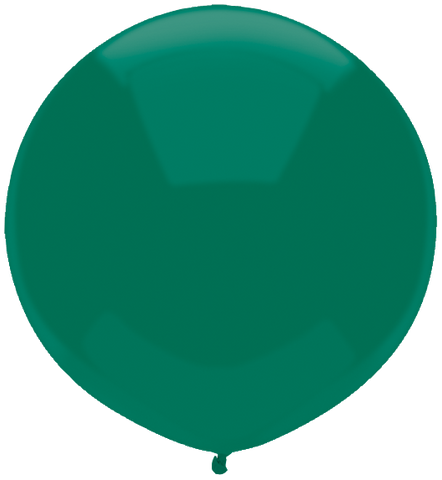 "17"" Round Forest Green Outdoor Balloon#16600 - Pack of 50"
