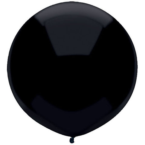 "17"" Round Pitch Black Outdoor Balloon#16604 - Pack of 50"