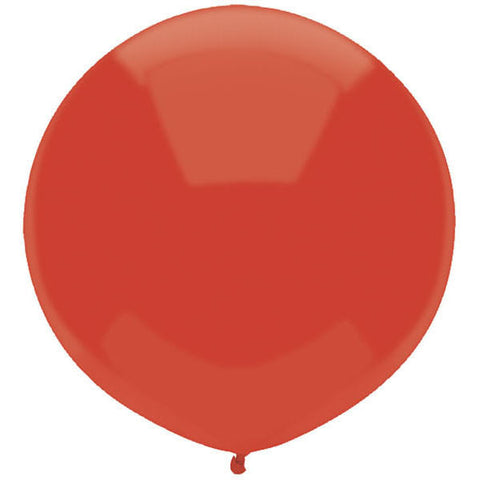 "17"" Round Real Red Outdoor Balloon#16605 - Pack of 50"
