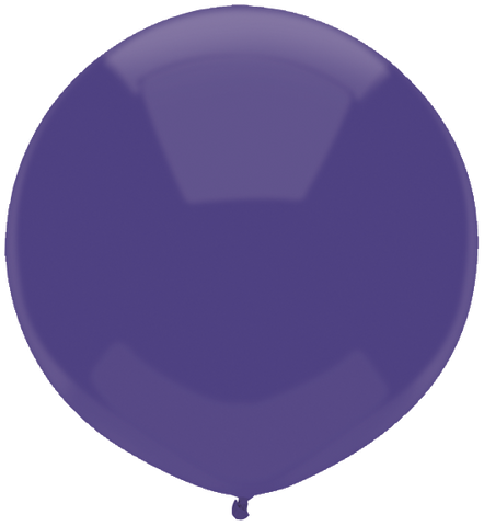 "17"" Round Regal Purple Outdoor Balloon#16606 - Pack of 50"