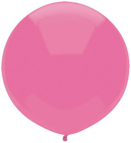 "17"" Round Passion Pink Outdoor Balloon#16608 - Pack of 50"