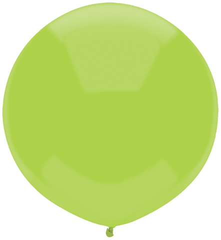 "17"" Round Kiwi Lime Outdoor Balloon#16609 - Pack of 50"