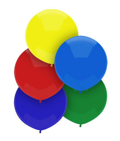 "17"" Round Royal Rich Assorted Outdoor Balloon #16611 - Pack of 50"