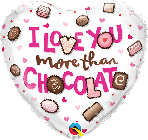 "18"" Heart I Love You More Than Chocolate #16678 - Each (Pkgd.)"