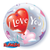 "22"" Single Bubble I Love You Heart Balloons #16676 - Each"