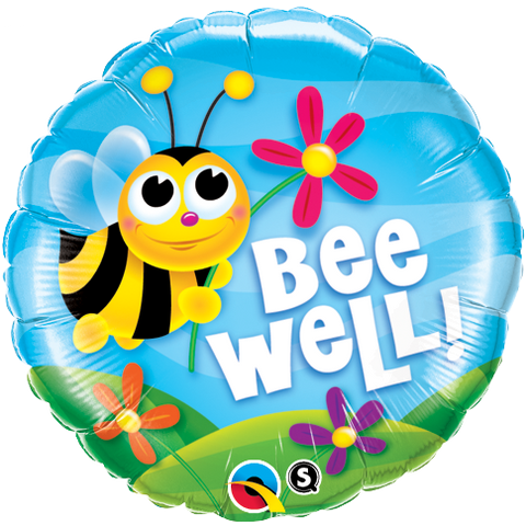 "18"" Round Foil Bee Well! Flowers #16998 - Each (Pkgd.)"